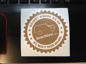 Buschtaxi-Aufkleber 2