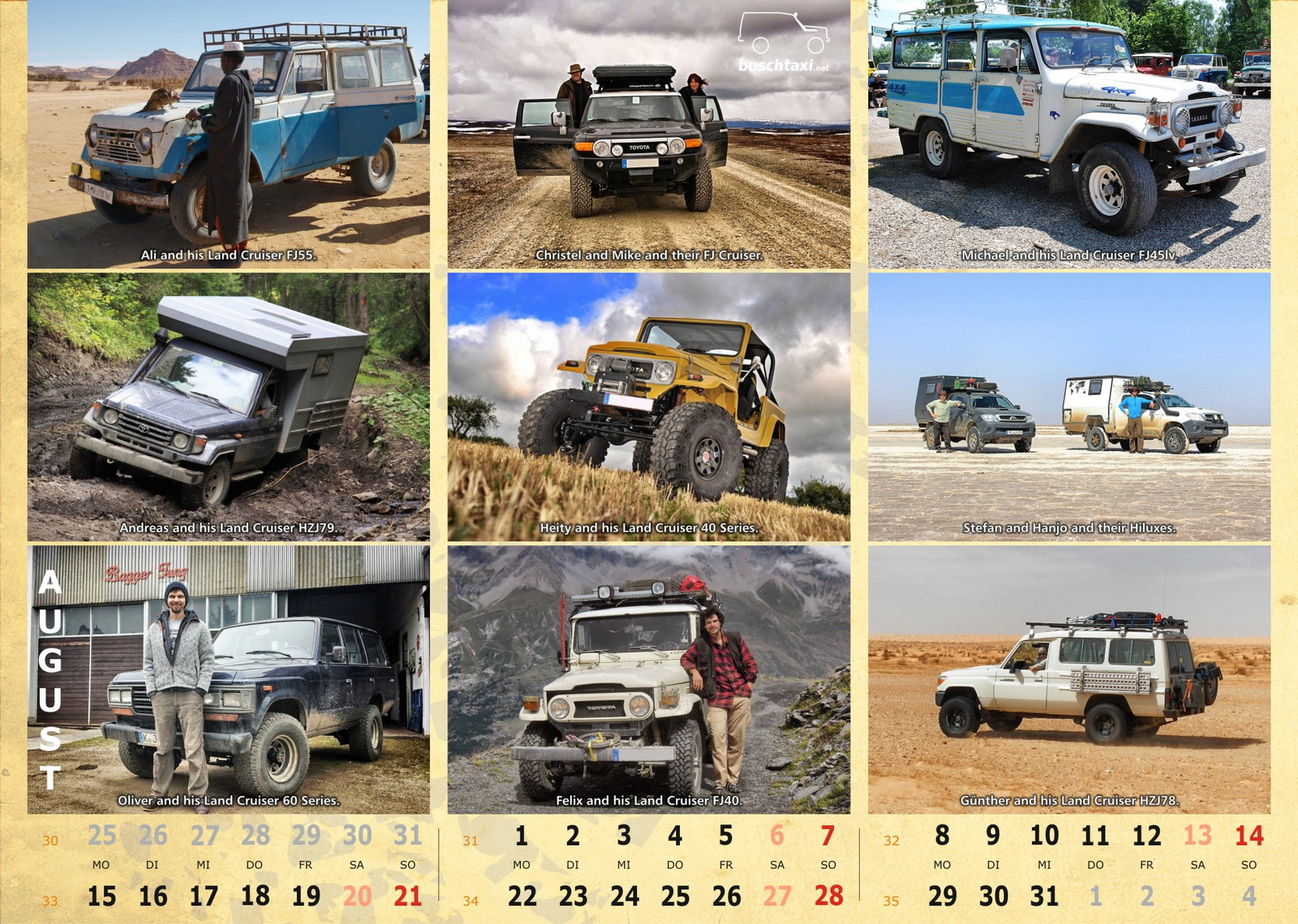 Buschtaxi-Kalender 2016-08