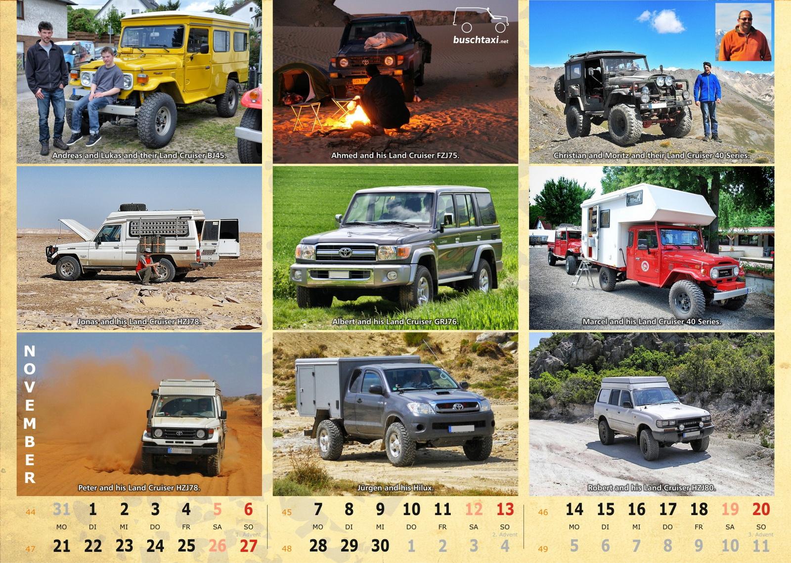 Buschtaxi-Kalender 2016-11