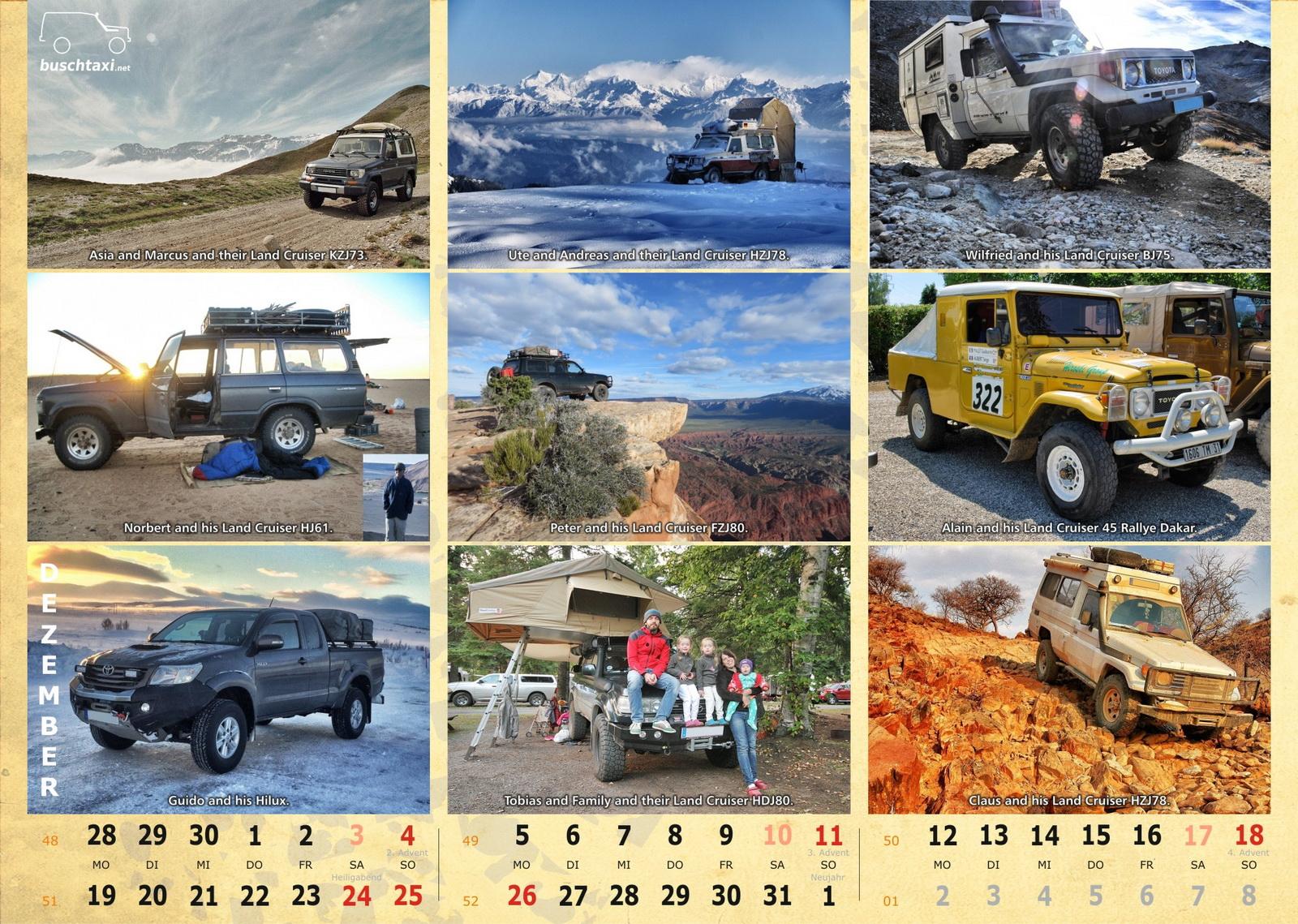 Buschtaxi-Kalender 2016-12